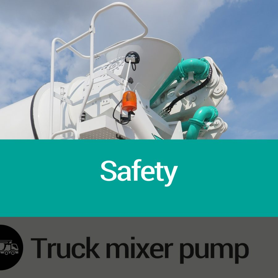 Features of Truck Mixer Pump Safety Slide