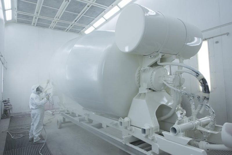 Production of concrete truck mixers 07