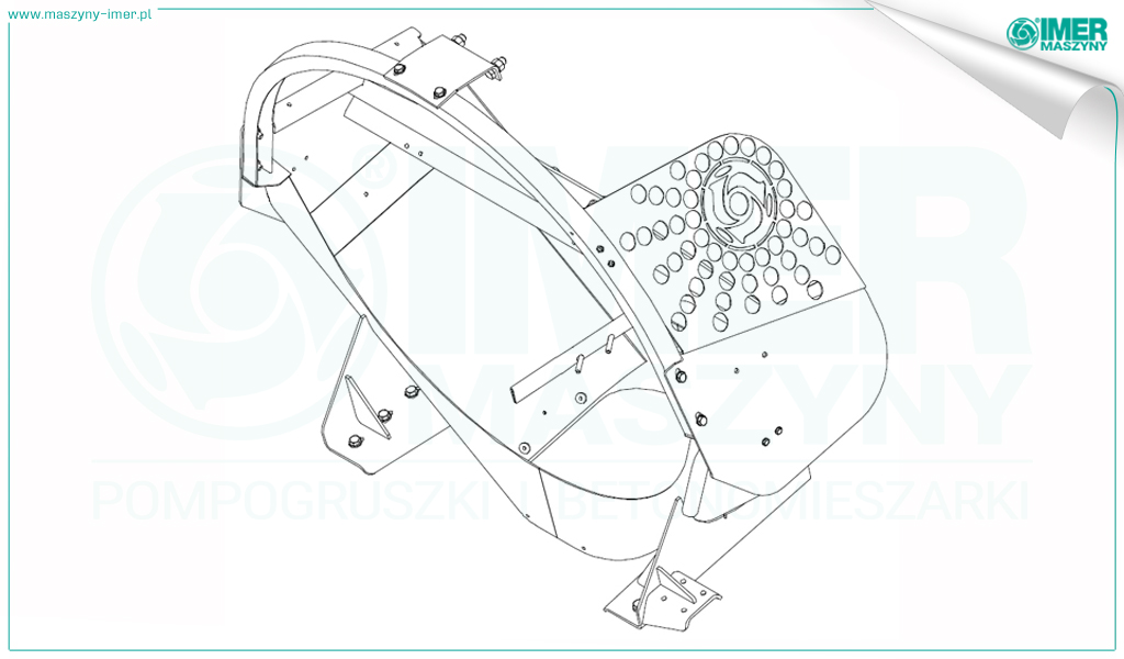 Sketches of safety elements on Imer concrete truck mixers 01