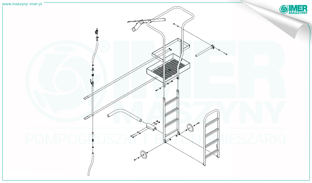 Sketches of safety elements on Imer concrete truck mixers 02