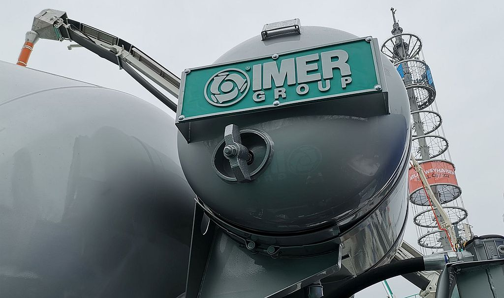 Water installation IMER concrete mixers