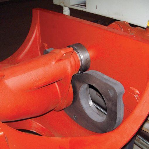 Wear plate from IMER truck mixer pump 01