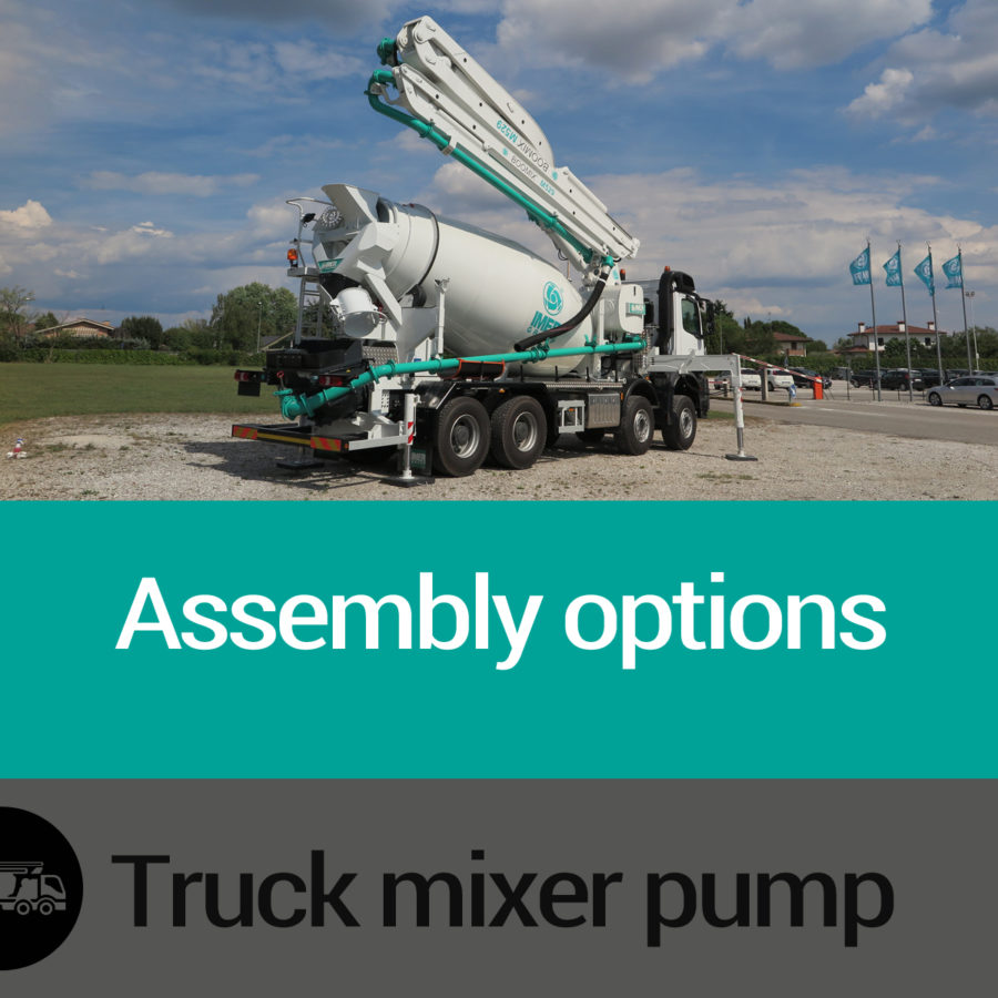 Assembly options Imer Truck mixer pump Slide 05