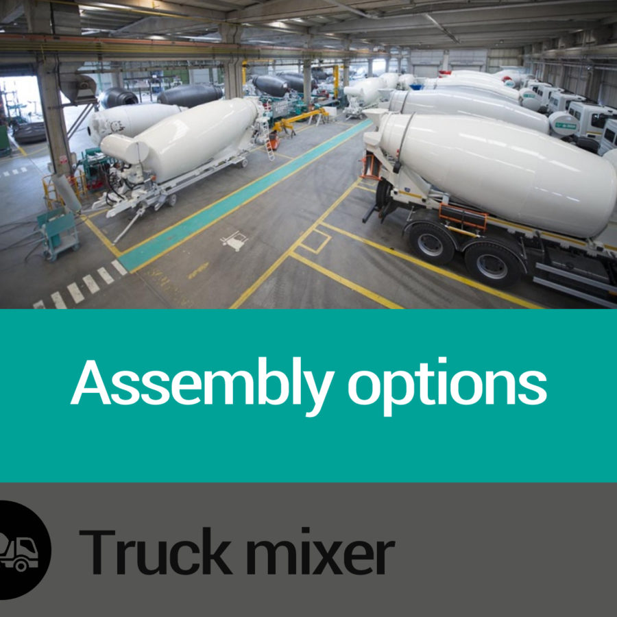 Assembly options Imer Truck mixers Slide 02