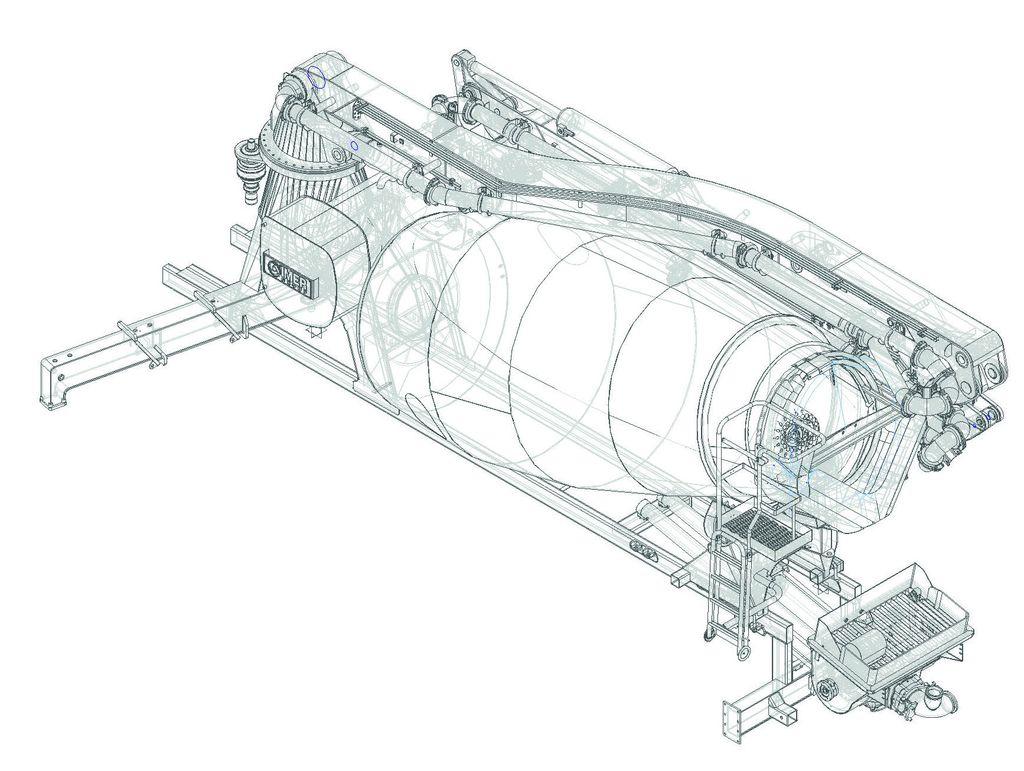 Truck mixer pump IMER BOOMIX M529 03