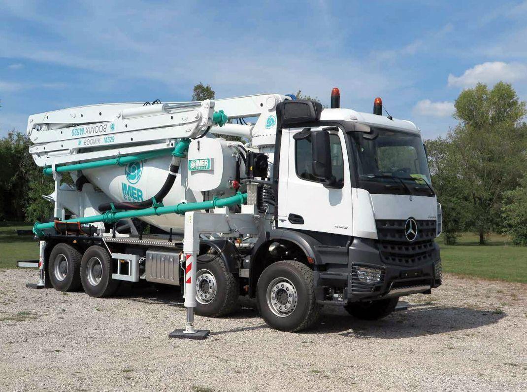 Truck mixer pump IMER BOOMIX M529 01